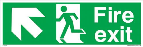 Fire exit Running man Up Left